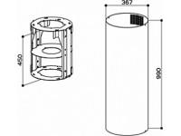 Дымоход+удлинитель Faber D370 F990 10L