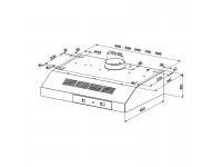 Кухонная вытяжка Faber 741 PB X A50
