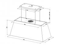 Кухонная вытяжка Faber CHLOE XL ISOLA CAST IRON F110