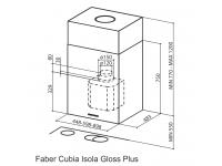 Кухонная вытяжка Faber CUBIA IS. GLOSS PLUS EV8 WH A45