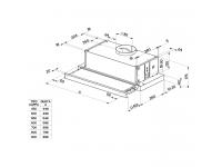 Кухонная вытяжка Faber FLEXA INOX A60