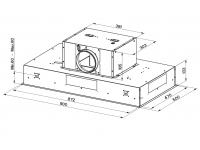 Кухонная вытяжка Faber ONYX-C BK GLASS/X A90