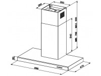 Кухонная вытяжка Faber ONYX-T BK GLASS/X A90