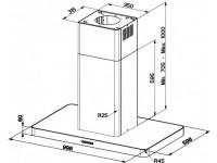 Кухонная вытяжка Faber T-LIGHT ISOLA EV8P X A100