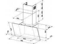 Кухонная вытяжка Faber GLAM-LIGHT EV8P WH/WG A80