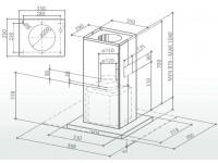 Кухонная вытяжка Faber PRETTY ISOLA ACT EG8 X A90