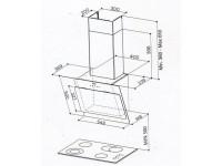 Кухонная вытяжка Faber COCKTAIL XS WH A55