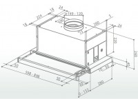 Кухонная вытяжка Faber MAXIMA EG8 AM/X A60
