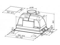 Кухонная вытяжка Faber INCA SMART C GR A52