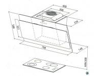 Кухонная вытяжка Faber COCKTAIL BK F80