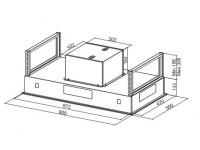 Кухонная вытяжка Faber HEAVEN GLASS 2.0 WH A90