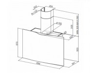 Кухонная вытяжка Faber VEIL WH CORIAN A90