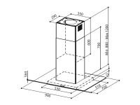 Кухонная вытяжка Faber GLASSY ISOLA/SP EG8 X/V A90