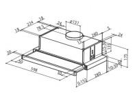 Кухонная вытяжка Faber FLEXA GLASS M6 BK A60