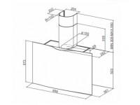Кухонная вытяжка Faber VEIL WH A90