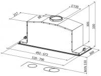 Кухонная вытяжка Faber Inca Lux Glass EG8 X/WH A52